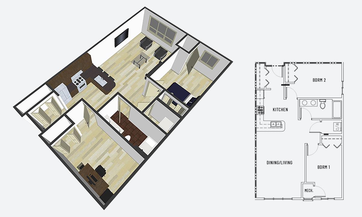Island City Properties 2 Bedroom Apartment Option B