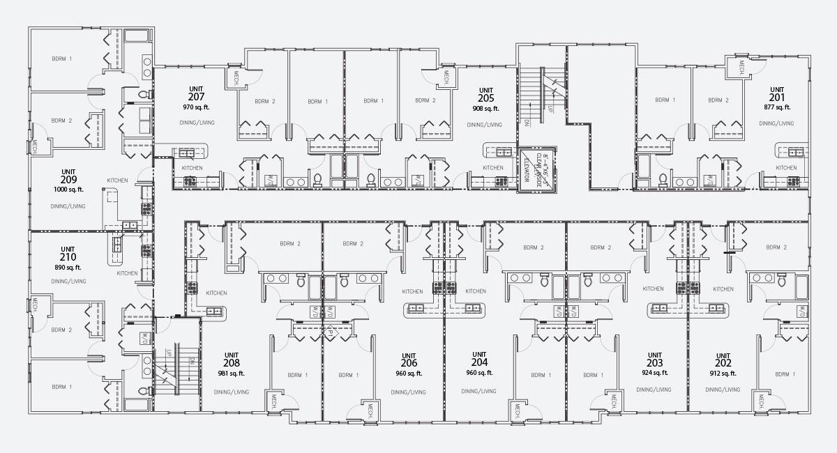 Island City Properties 2nd Floor Layout