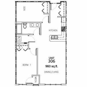 Unit 306 - 960 Sq. Ft.