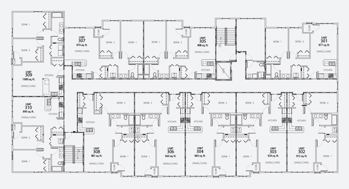 Island City Properties 3rd Floor Layout