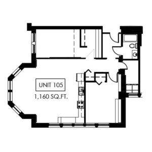 Unit 105 - 1,160 Sq. Ft.