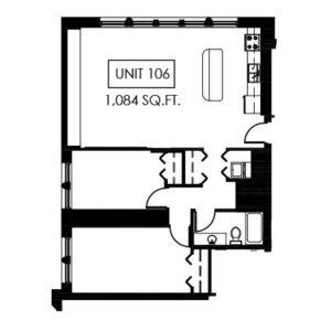 Unit 106 - 1,084 Sq. Ft.