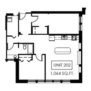 Unit 202 - 1,064 Sq. Ft.