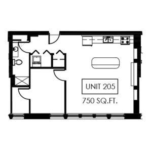 Unit 205 - 750 Sq. Ft.