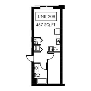 Unit 208 - 457 Sq. Ft.